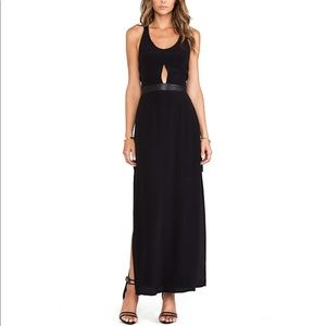 NWT Backless V Neck Side Slit Sexy Maxi Dress